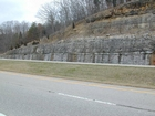 Mississippian Newman Limestone shallow water high energy Ooid shoal facies Eastern Kentucky on I 64 in Western Appalachian Mountains close to Olive Hill