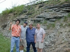 Ordovician Cincinnatian Group shelf close to Winchester Kentucky, Route 627
