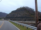 The huge road cut at Pikeville on Rt 23