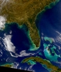Gulf Florida and Bahamas; photographic image from outer space by NASA
