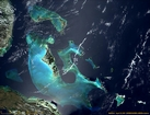 Bahamas Platform: photographic image from outer space by NASA