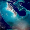Bahamas Andros Island, the Exumas and the Tongue of the Ocean (Togo): photographic image from outer space by NASA