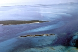 North end of the southern shore of Normans Pond Cay Exumas Bahamas