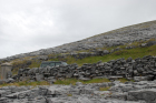 Exposures along margins of country road R477 of Dinantian Burren Limestone Formation. These Carboniferous limestons are composed of shallow water carbonates. Note the clints (limestone blocks) and grikes (joints and fractures) extensively enlarged by Pleistocene dissolution. Topography almost devoid of vegetation, though when it occurs it fills prominent grikes.