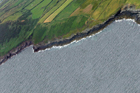 Oblique image of east west traverse from Rinevilla Point to the Rehy Cliffs. Photo taken by David Pyles from a helicopter.
