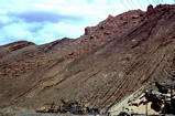 Complex of the cut and fill of Jurassic chanelled carbonate turbidites and pelagic shales in a mid fan position. Photo located in the Oed Ziz to the north of the Tunnel de Legionaire in the High Atlas of Morroco.
