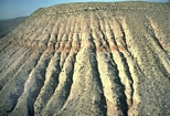 Rocky Arroyo Seven Rivers Fm Scholle Photo showing alternating continental clastics, tidal flat dolomites and sabkha evaporites