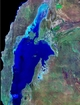 Lake McLeod Western Australia; false color photographic image from outer space by NASA