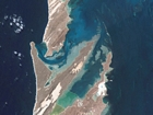 Blind Straight Shark Bay W Australia: photographic image from outer space by NASA