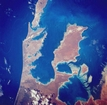 Freycinet Reach and Hamelin Pool Shark Bay West Australia: photographic image from outer space by NASA